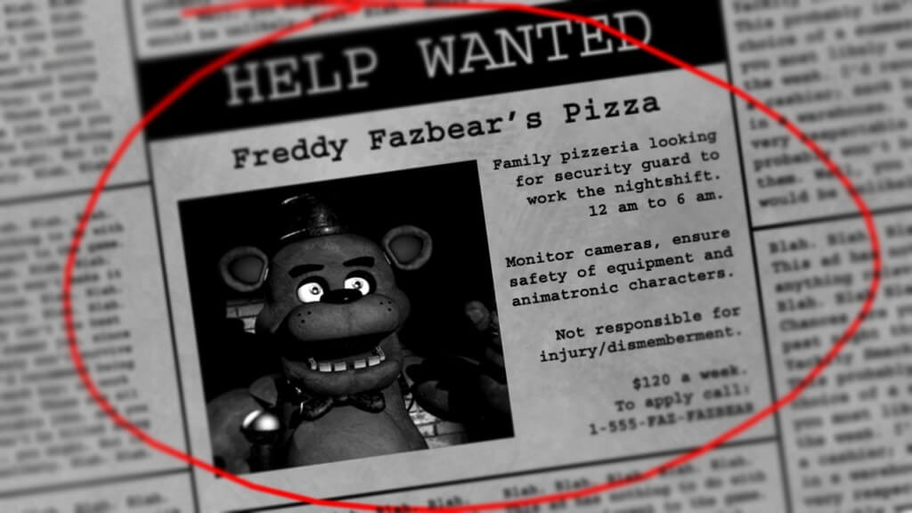 Сюжет Five Nights at Freddys