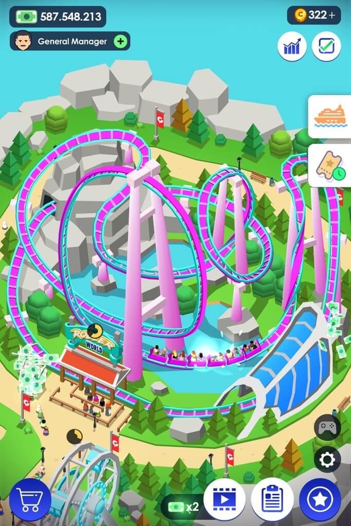 Idle Theme Park - стать самым успешным менеджером