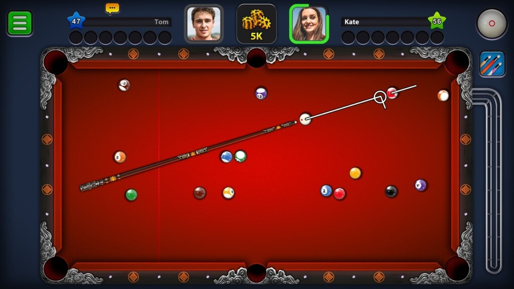 Механика игры 8 Ball Pool на андроид