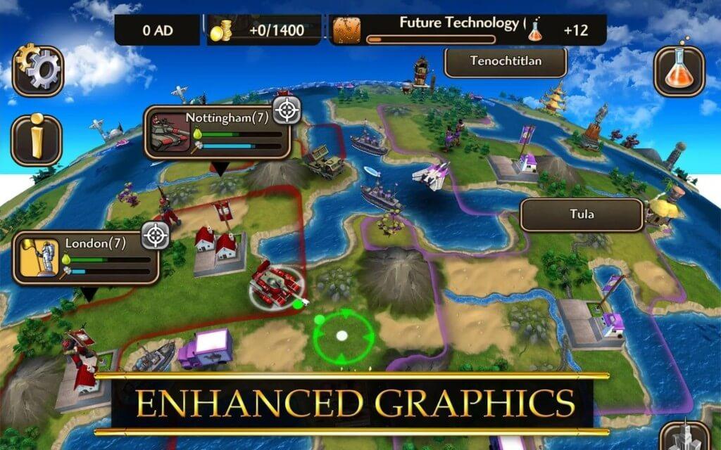 Механика игры Civilization Revolution 2 на андроид