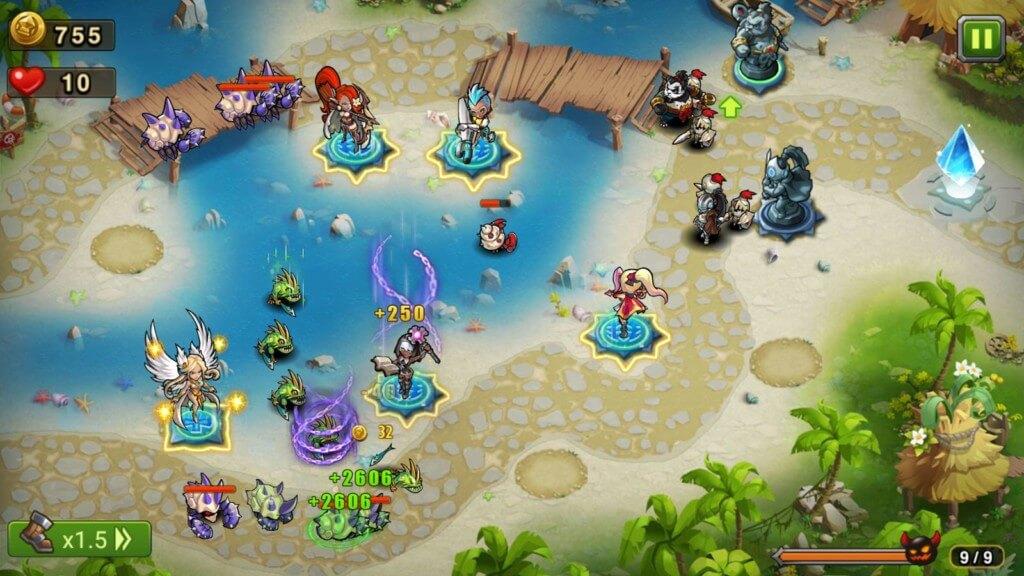 Игровой процесс игры Magic Rush: Heroes