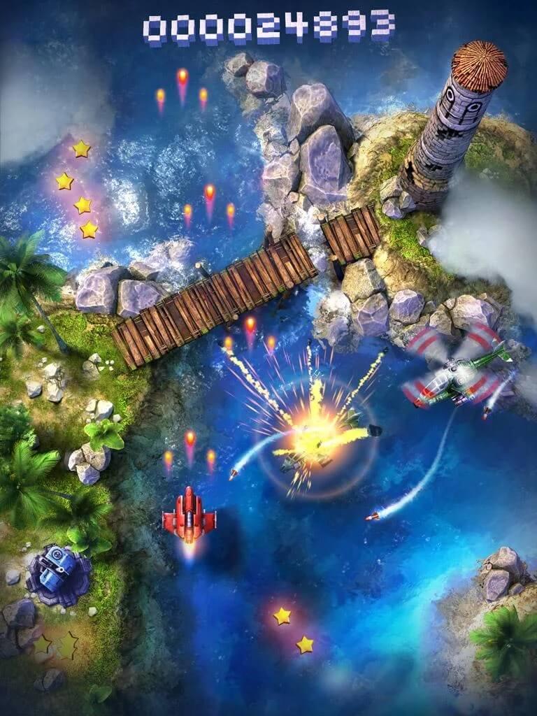 Механика игры Sky Force Anniversary