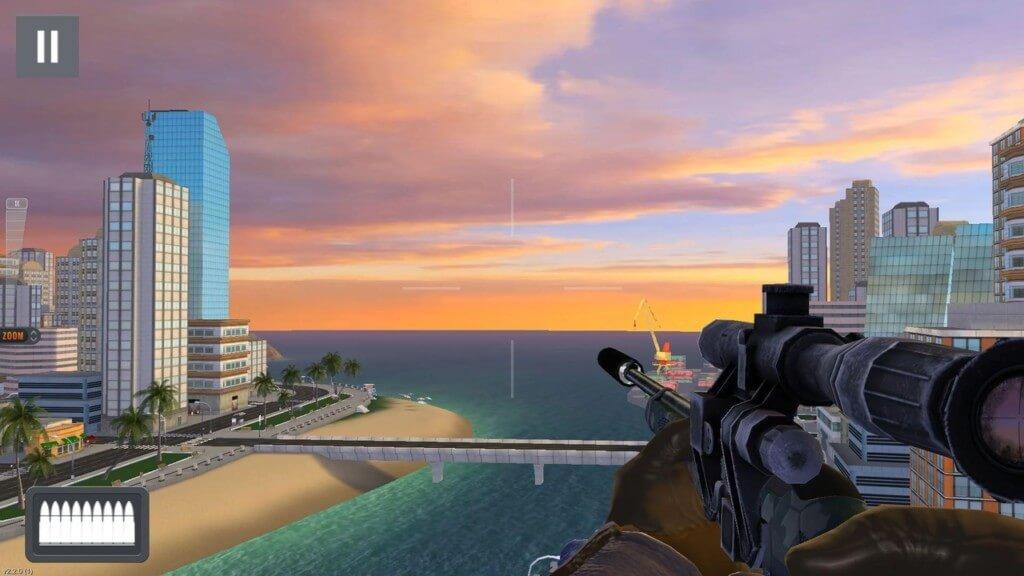 Механика игры Sniper 3D на андроид