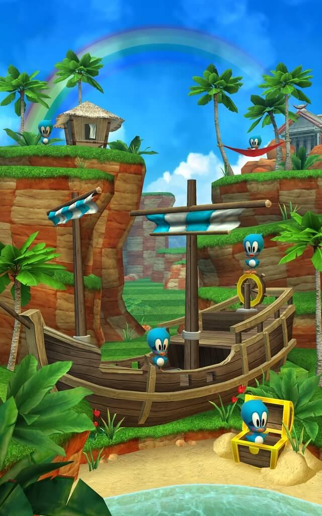 Механика Sonic Dash на андроид