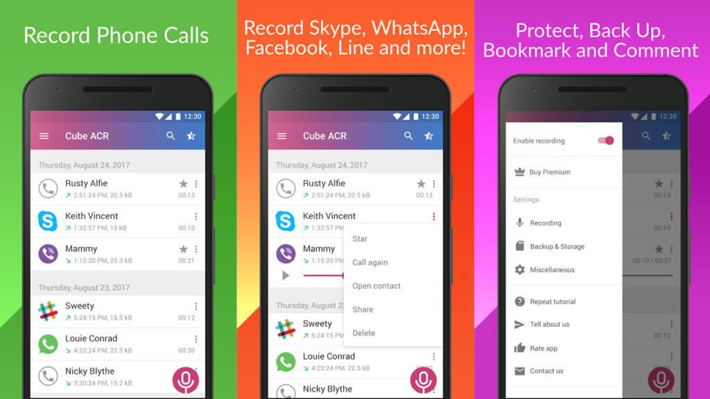 Cube ACR на андроид - лучшее приложение для записи звонков