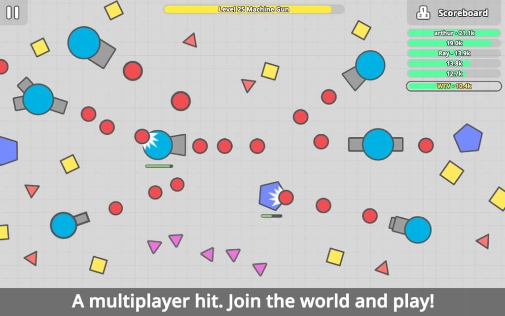 Механика игры diep.io