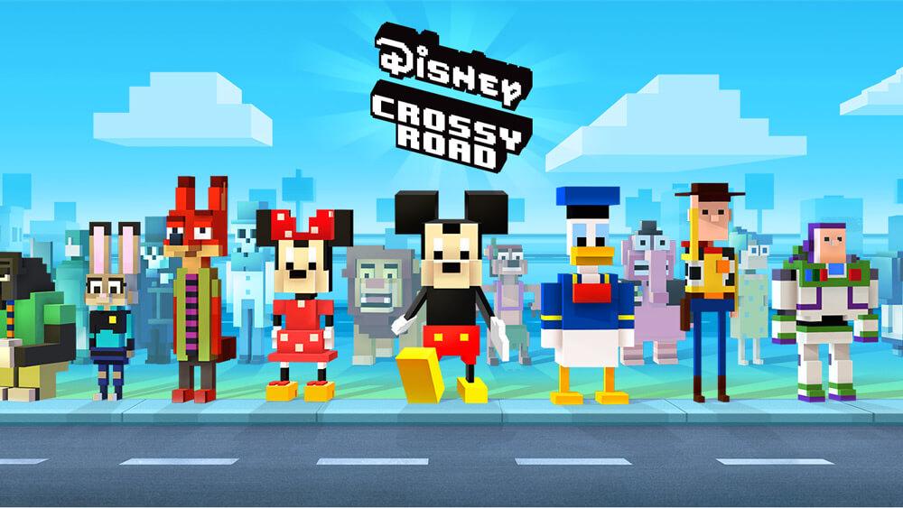 Механика игры Disney Crossy Road
