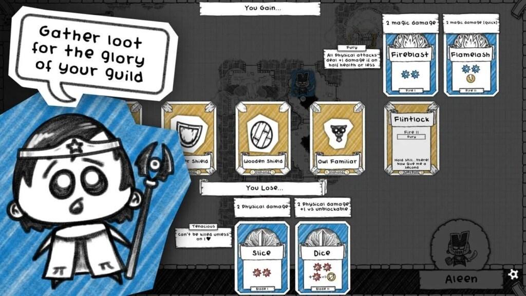 Механика игры Guild of Dungeoneering