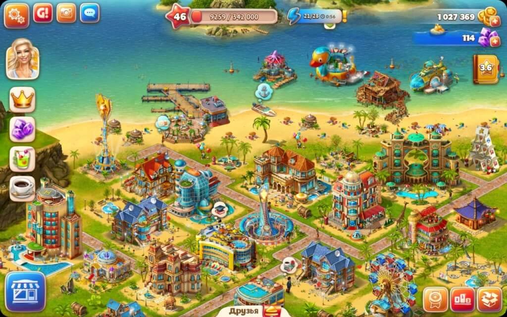 Механика игры Paradise Island 2