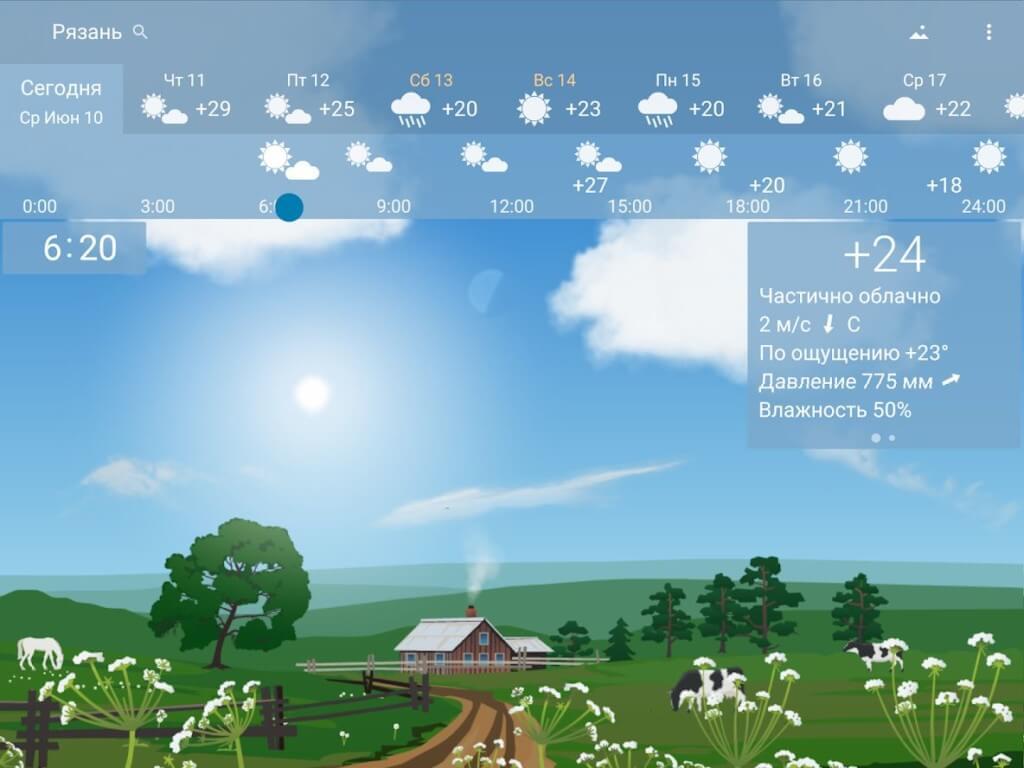 Погода YoWindow - прогноз погоды с высокой точностью