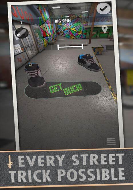 Механика игры Skater для андроид