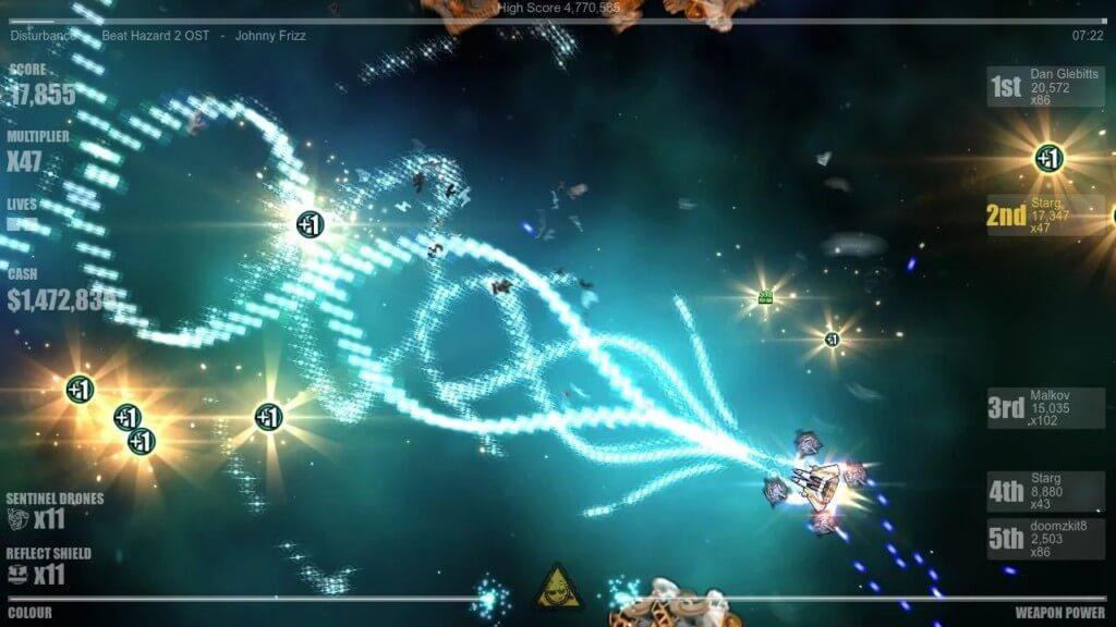 Механика игры Beat Hazard 2