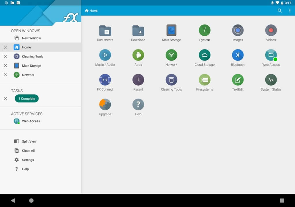 Скриншот FX File Explorer