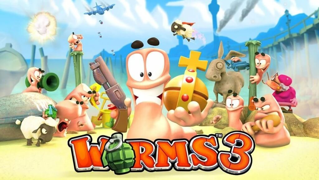 Механика игры Worms 3 на андроид