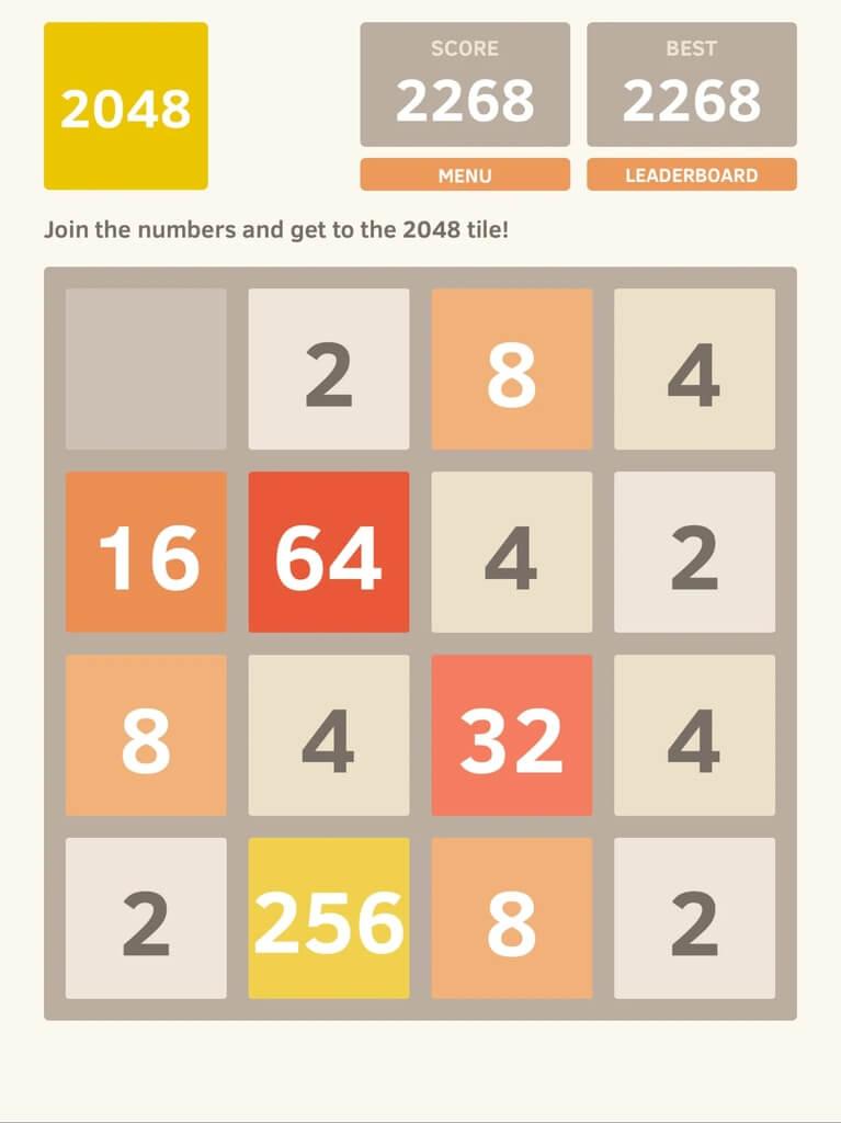 Механика игры 2048 на андроид