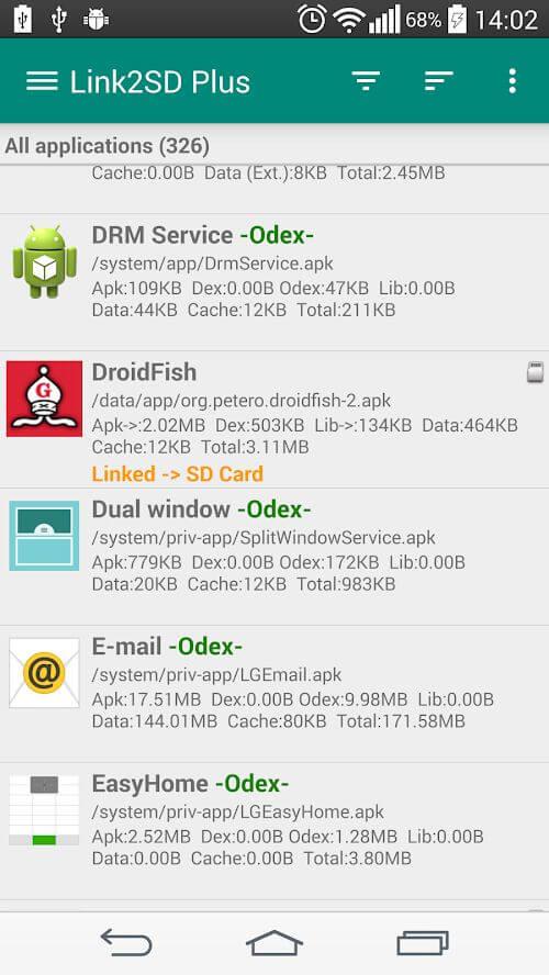 Подробнее об приложении Link2SD на андроид