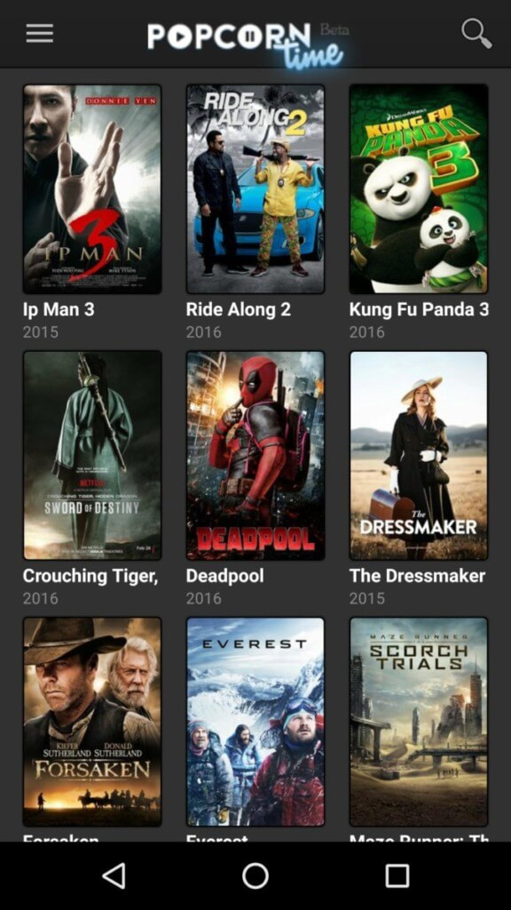 Ключевые особенности приложения Popcorn Time
