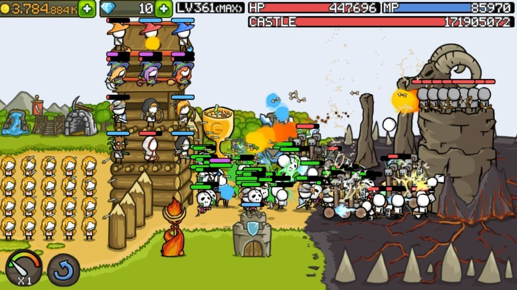 Сюжет игры Grow Castle на андроид