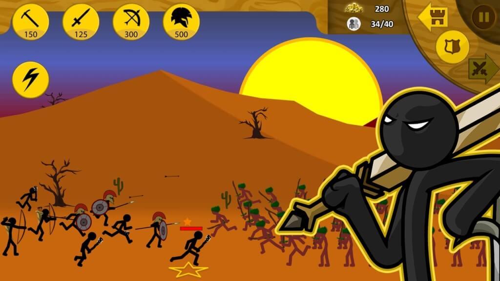 Игровой процесс в игре Stick War Legacy