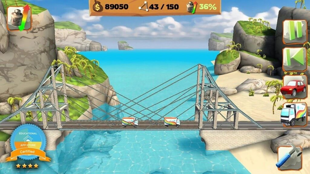 Про что Bridge Constructor Playground?