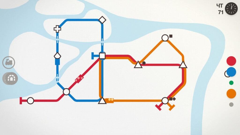 Игровой процесс в Mini Metro на андроид