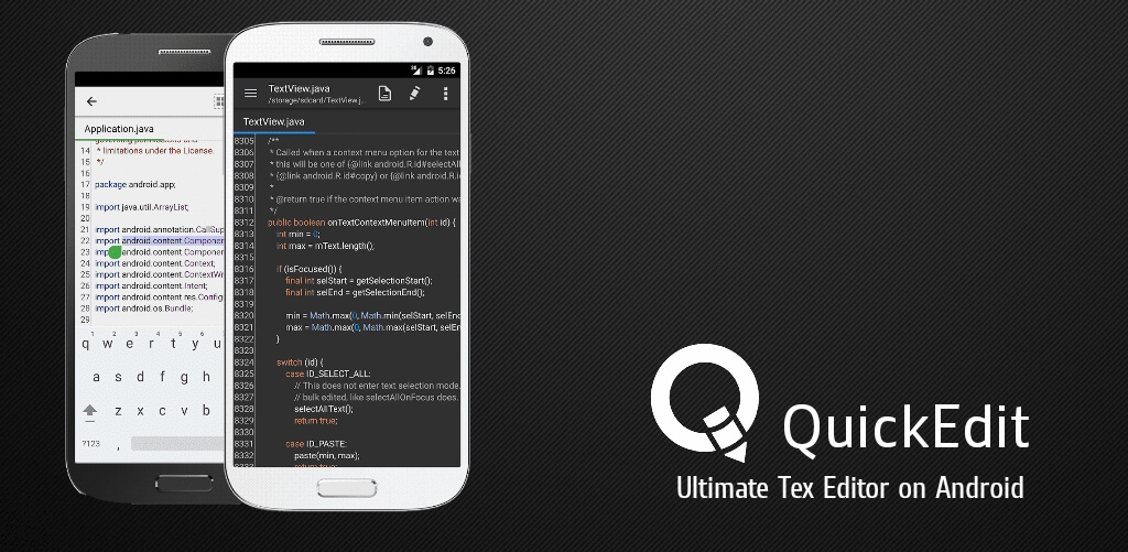 QuickEdit Text Editor Pro - лучший текстовый редактор на Android