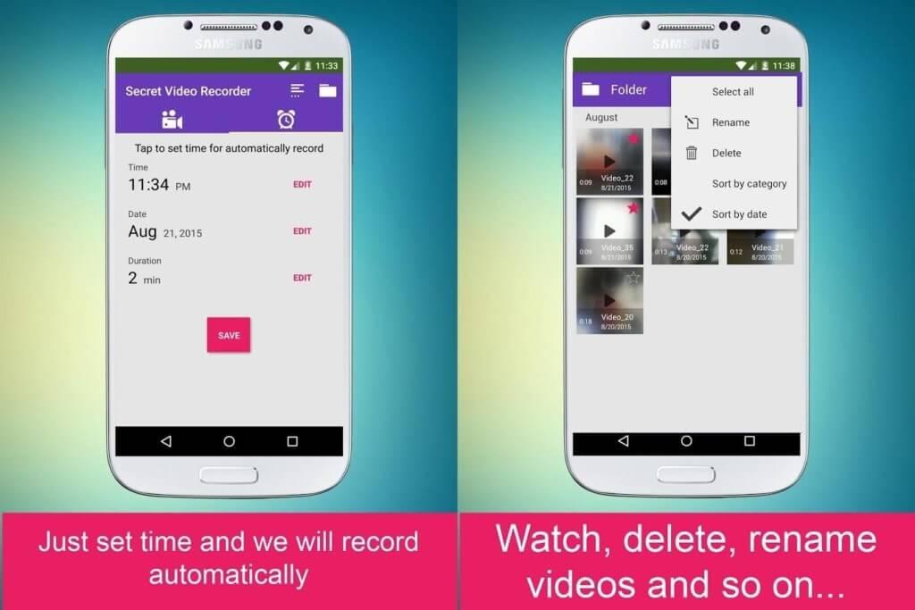 Ключевые особенности программы Secret Video Recorder