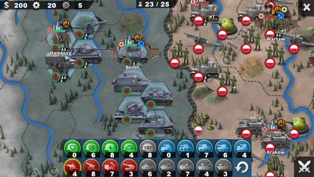 Игровой процесс в World Conqueror 4 на андроид