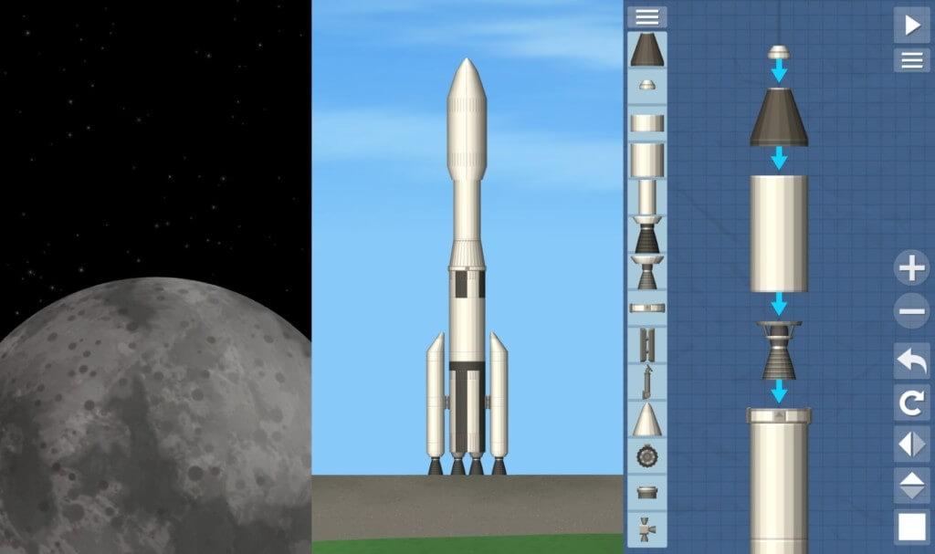 Игровой процесс в Spaceflight Simulator на андроид