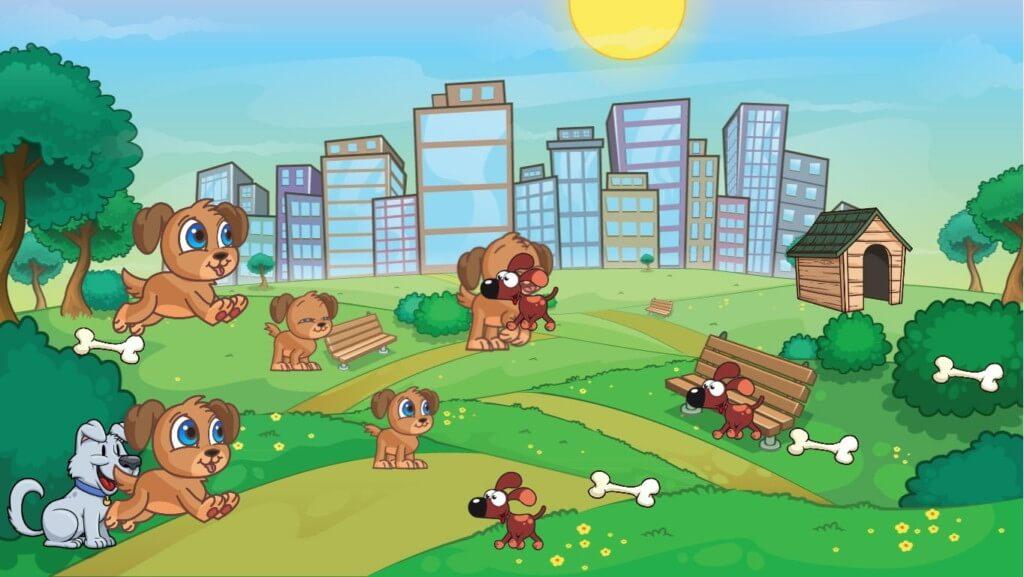 Игровой процесс в Puppy Town
