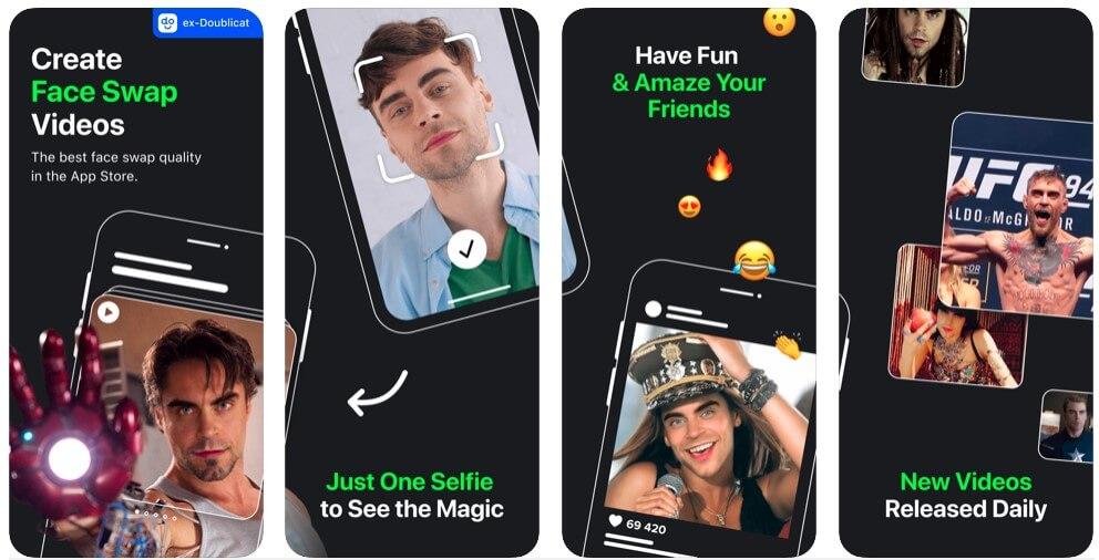 REFACE на андроид - приложение для смены лиц на видео