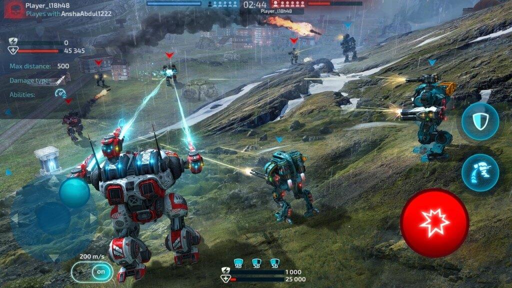 Геймплей Robot Warfare Mech Battle