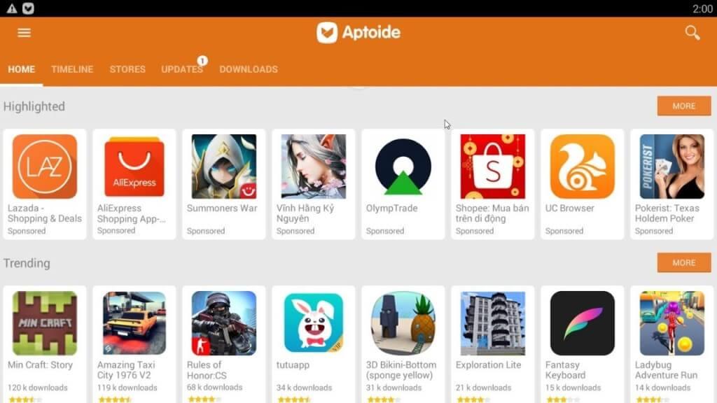 Ключевые особенности Aptoide