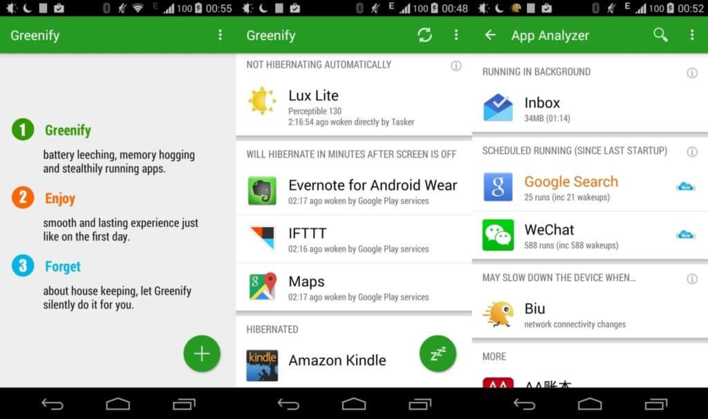 Основные возможности Greenify на андроид