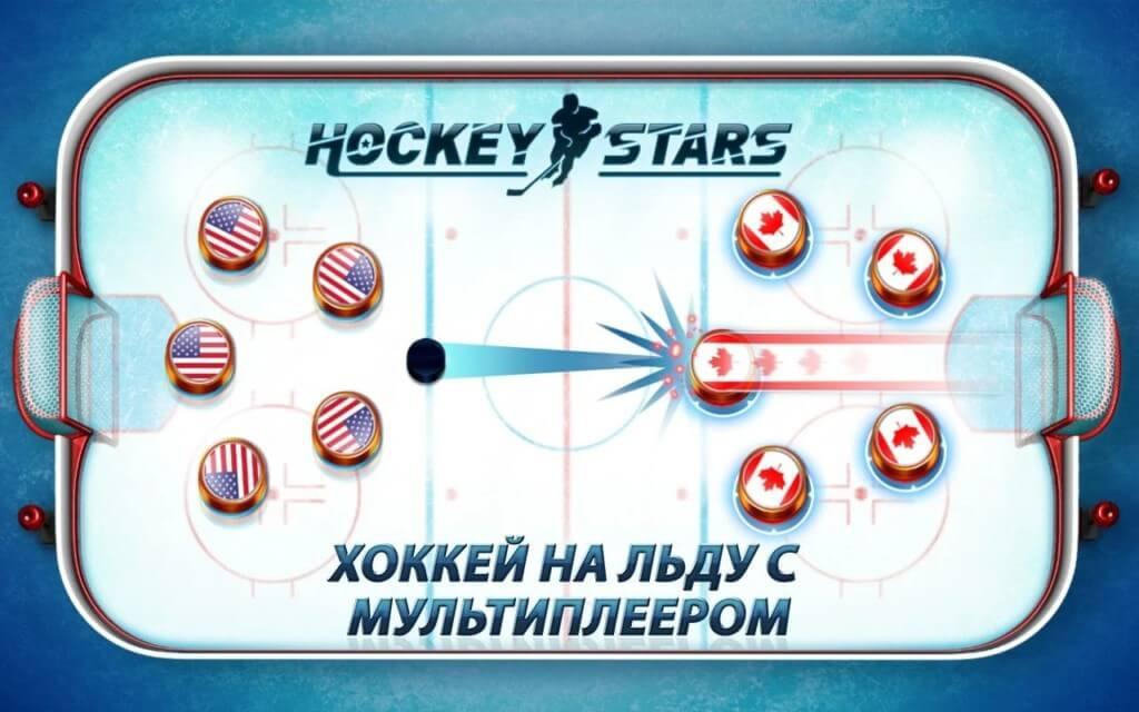 Механика игры Hockey Stars на андроид