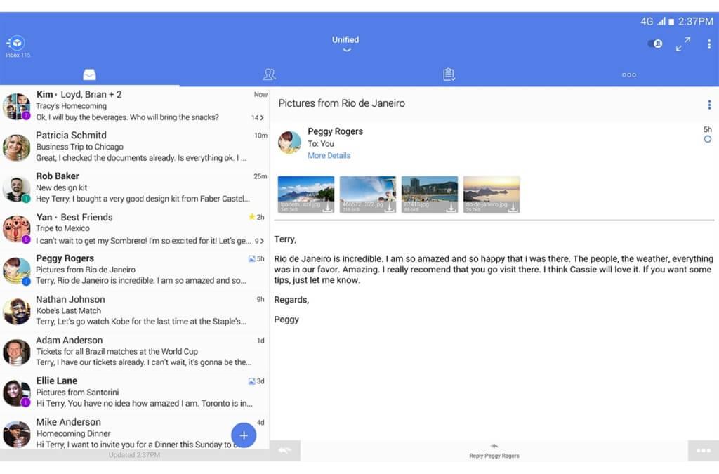Плюсы приложения TypeApp Mail
