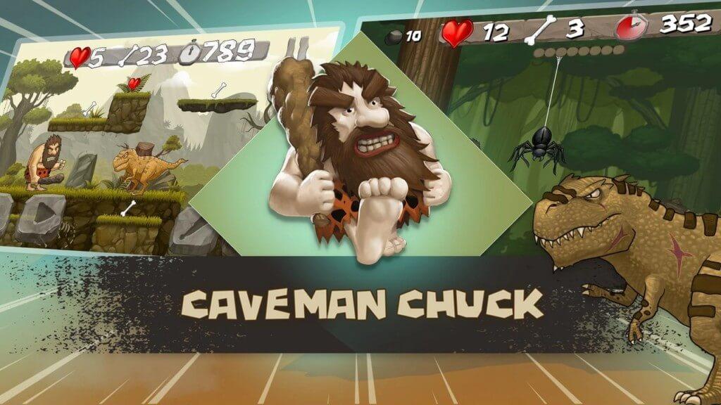 Интересные подробности об игре Caveman Chuck
