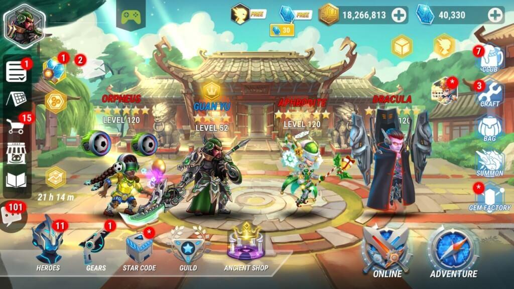 Сюжет в игре Heroes Infinity
