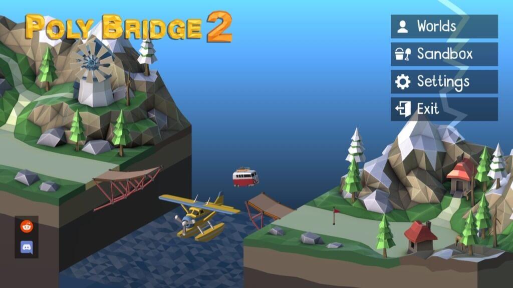 Механика игры Poly Bridge 2 на андроид