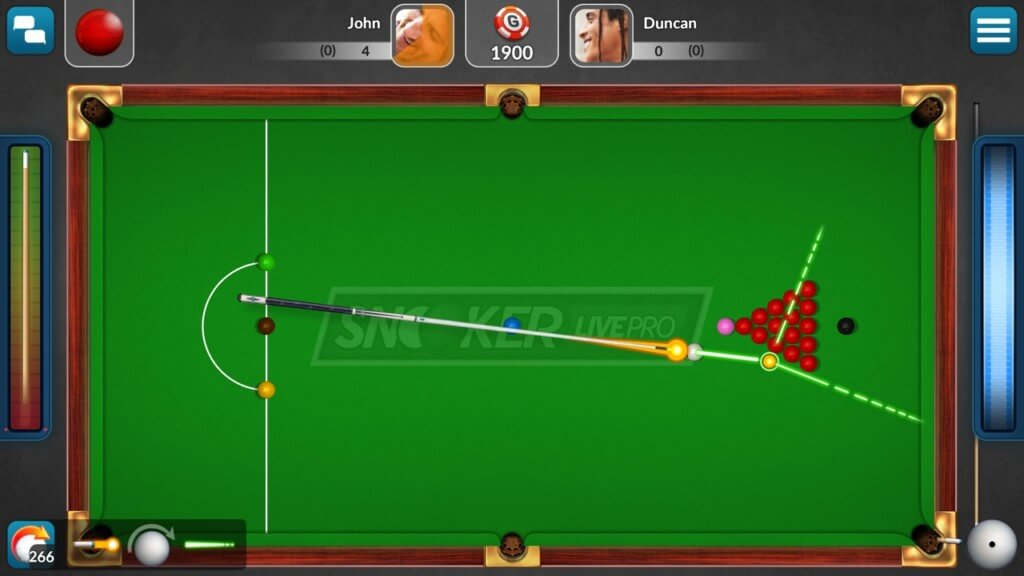 Механика игры Snooker Live Pro