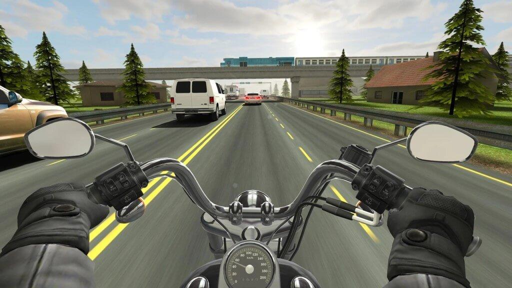 Механика игры Traffic Rider на андроид