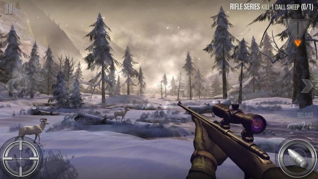 Механика игры Deer Hunter на андроид