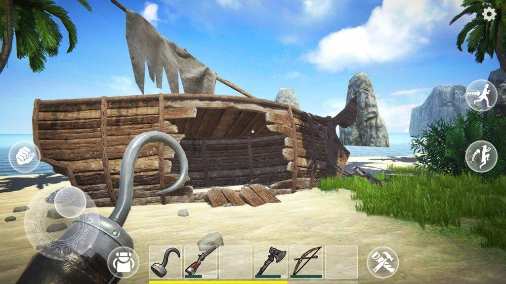 Сюжет в игре Last Pirate Island Survival