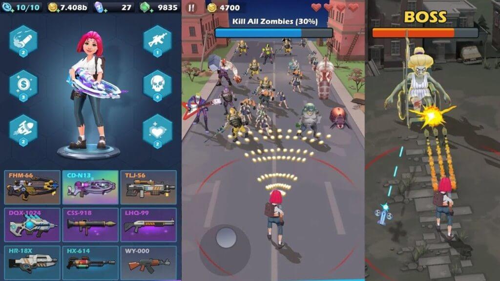 Геймплей игры Mow Zombies