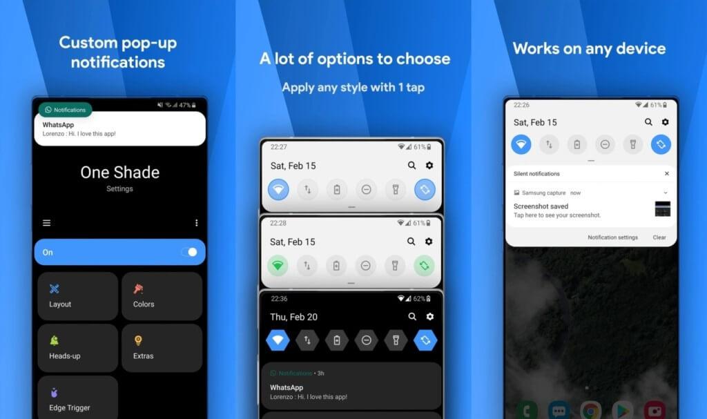 Подробнее о приложении One Shade на андроид