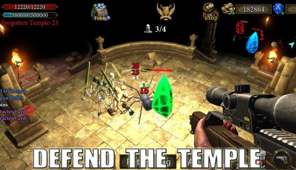 Геймплей в игре Dungeon Shooter