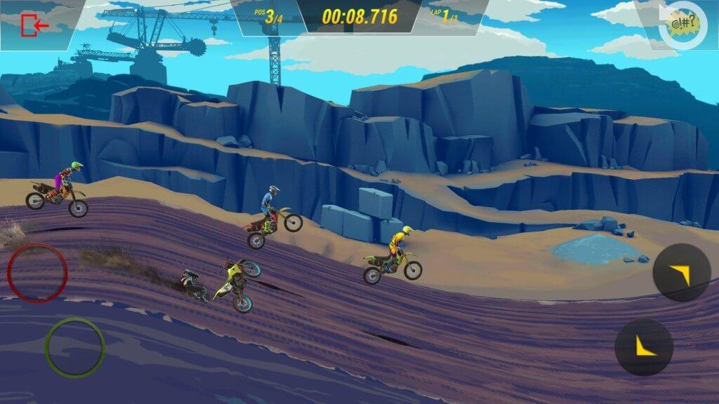 Геймплей игры Mad Skills Motocross 3
