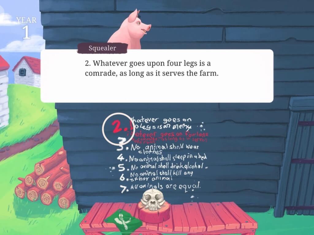 Про сюжет в Orwells Animal Farm