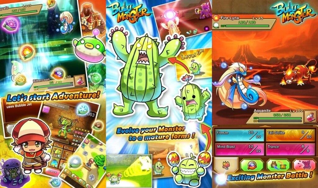 Геймплей игры Bulu Monster