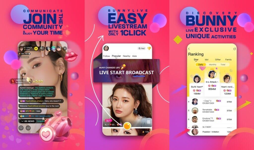 Bunny Live - транслируйте интересный контент, чтобы заинтересовать зрителей